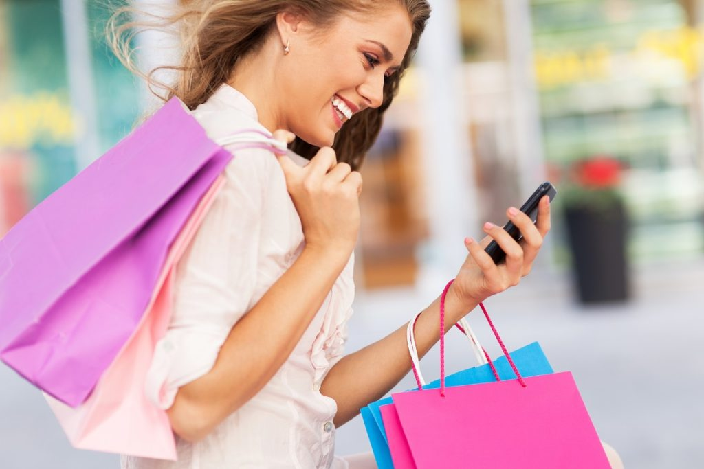 Treating yourself to a day of shopping