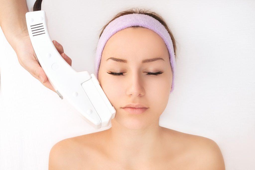 Woman having a clear skin
