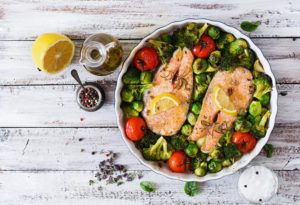 brussel-sprouts-salmon-tomatoes